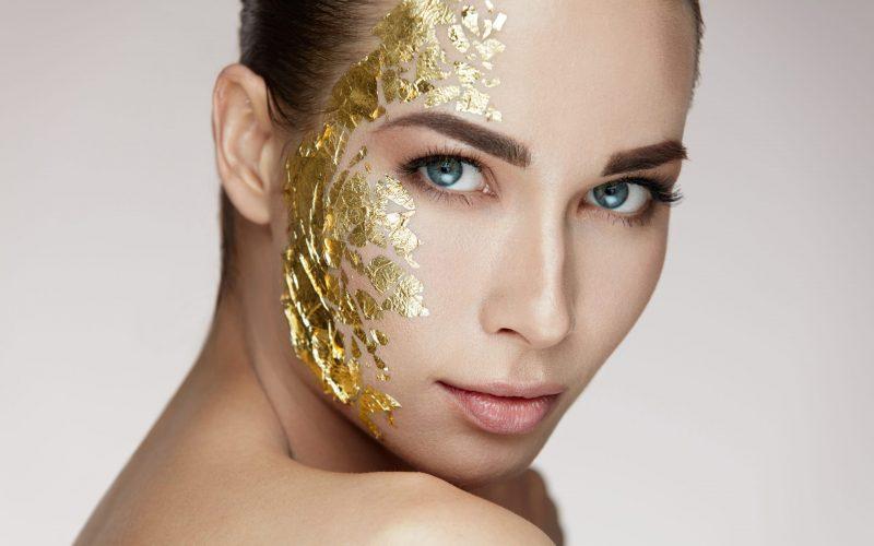 Gold Mask On Soft Skin